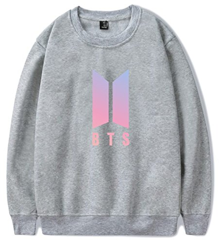 SIMYJOY Lovers KPOP BTS Fans Felpa Pullover Hip Hop Felpa Top per Uomo Donna Adolescente grigio J-hope 94