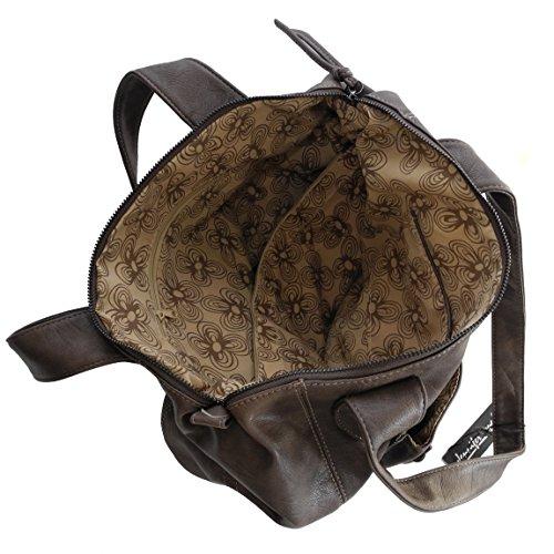 7f5d17fac1eea ... Jennifer Jones schöne modische elegante Damen Schultertasche Handtasche  Umhängetasche - präsentiert von ZMOKA® (Taupe
