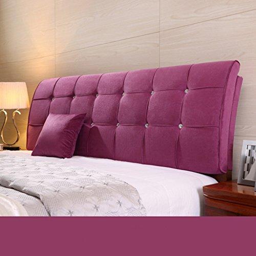 Dossier De Chevet Pure Color Bedhead Soft Protector Sac doux Double oreillette au couvre-lit Oreiller ergonomique Design Bedside Big Pillow Lumbar 62 * 155cm (Couleur : G)
