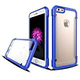 Coque iPhone 6S 6, Rovy [2017] Transparent Transparen Clear Ultra-Mince Antichoc Shockproof Slip Proof 0.5mm Silicone&PC Bumper Coque Heavy Duty Cover pour iPhone 6 6S - (Blue)
