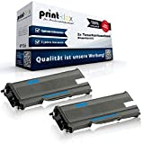 2x Alternative Tonerkartuschen für Brother HL 2140 HL 2150 HL 2150 N HL 2150 NR HL 2170 TN2120 TN-2120 Toner Premium - Color Line Serie - Doppelpack