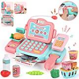 JoyGrow Smart Cash Register Pretend Play Toys with Calculator,Scanner,Money,Credit Card and Realistic Action