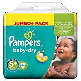 Pampers Baby-Dry Windeln Größe 5 Plus (Junior Plus) 13-27 kg, 1er Pack (1 x 68 Stück)