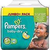 Pampers Baby-Dry Windeln Größe 5 Plus (Junior Plus) 13-27 kg, 1er Pack (1 x 68 Stück)