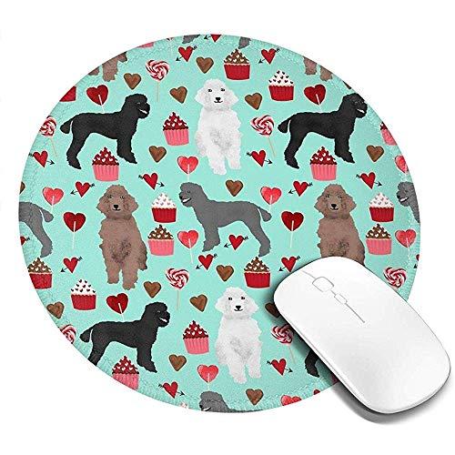 Tappetini per Mouse Barboncini Tamponi rotondi stampati