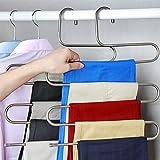 kleiderbügel aus Edelstahl Platzsparend Hosenbügel für 5 Hosen