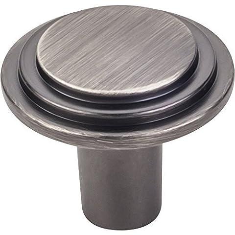 Elements Calloway 1 1/4 Diameter Cabinet Knob in Brushed Pewter (331L-BNBDL) by Elements (Brushed Pewter Knob)
