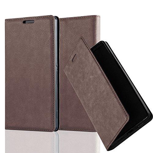 Preisvergleich Produktbild Cadorabo Hülle für Sony Xperia Z3 - Hülle in Kaffee BRAUN – Handyhülle mit Magnetverschluss,  Standfunktion und Kartenfach - Case Cover Schutzhülle Etui Tasche Book Klapp Style