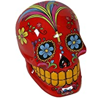 Coloured Skull Spardose ca. 13 cm aus Polyresin Gelddose Sparbüchse Totenkopf: Farbe: Rot preisvergleich bei kinderzimmerdekopreise.eu