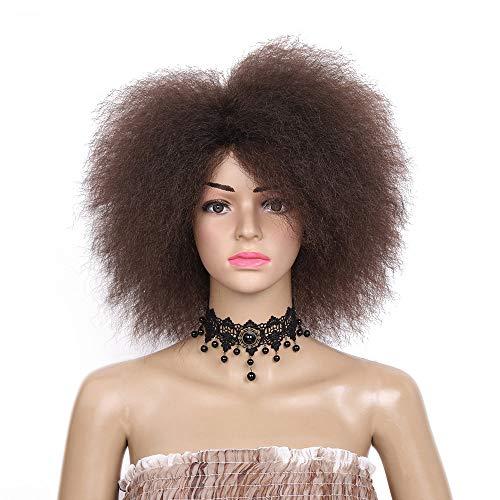 GXQJF Lady Perücke Explosion Kopf lockige Haare Flauschige Perücke