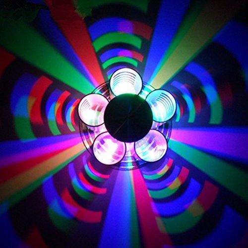 LL LED in alluminio a doppia testa farfalla lampada da parete camera da letto TV Divano Back Light Scala punteggiato la notte la luce colorata luci decorative Stage luci , purple
