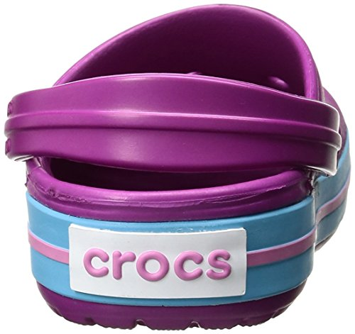 crocs Unisex-Erwachsene Crocband Clogs, Violett (Vibrant Violet), 43/44 EU