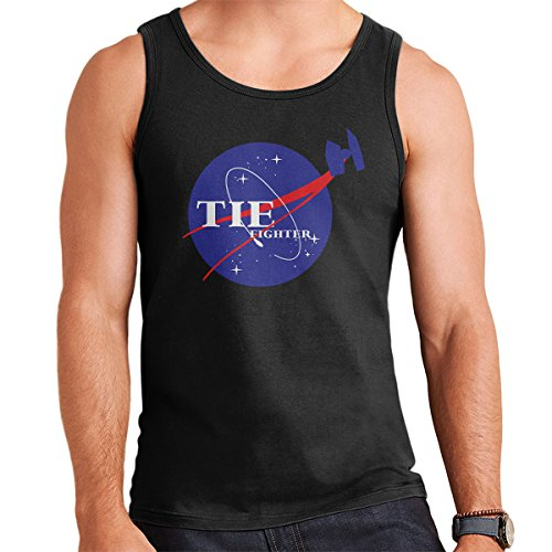 Star Wars Rogue One Tie Fighter Nasa Logo Men's Vest Black