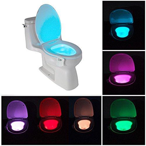 8 Colors Change Sensor LED Night Light Motion Activated Toilet Seat Night Light