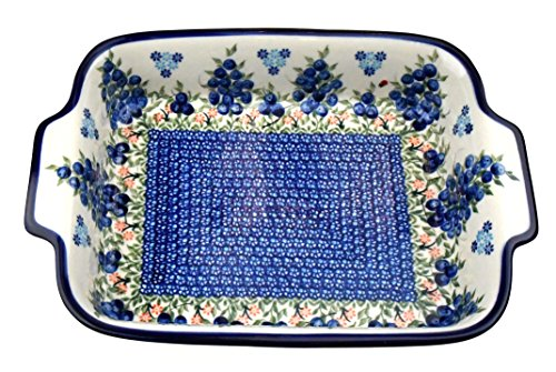ceramika boleslawiecka KALICH Polish Hand Made Keramik Baker Lasagne Medium Pfanne (33x 24,1x 6,3cm) Lasagne Baker