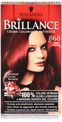 Testanera - Brillance, Crema Colorante Intensiva, 868 Rosso Intenso