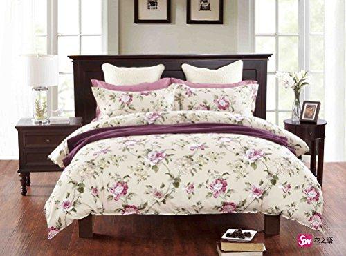 135x200 cm Bettwäsche mit 1 Kissenbezug 80x80 Renforcé Bettwäscheset Bettbezüge 100% Baumwolle Bettwäschegarnituren Reißverschluss Diamond Collection Annika beige pink rosa