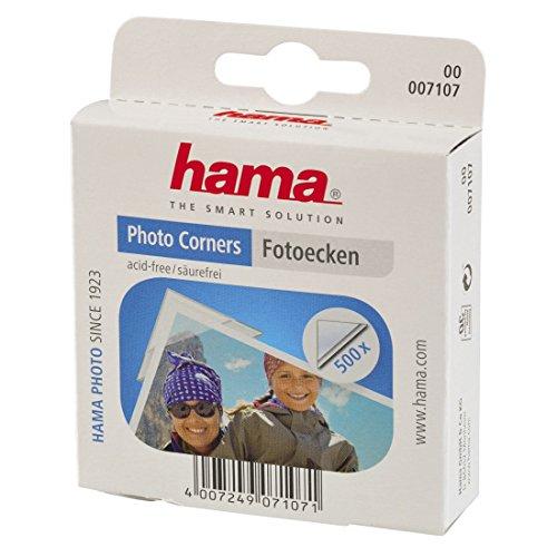 Hama Photo Corners 500 - esquinas fotos transparente