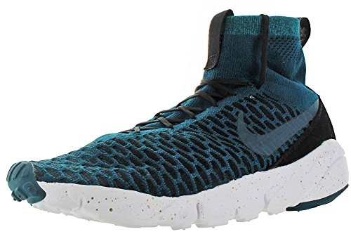 Nike Air Footscape Magista Fk Fc, Scarpe da Calcio Uomo Turquesa (Midnight Turq / Midnight Turq-Black)