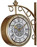 Swagger's Gold Station Clock with designer dial to add a royal touch to your home. Its a unique piece to own. The dial is a comes with a Vintage look. An ideal choice to gift a loved one