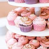 4-Etagen Cupcake Ständer, Tortenständer, Klar Runde Acryl - Hält bis zu 30 Cupcakes! Elegant Desserts Muffin Sushi Halter - Hoch Qualität & Haltbarer für Hochzeit, Geburtstage, Baby-Duschen. - 5