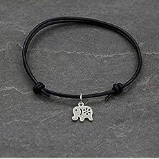 Om Zeichen Halskette Kette Yoga Makramee Band Schmuck Nylonband Schwarz Farbe Elefant Gl/ücksbringer Gl/ück Vegan Geschenkidee