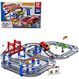 Powerpak Hengjian Diy Electric Car Racing Track 88Pc Building Blocks Toy For Kids - 95-2
