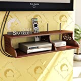 #4: Home Sparkle Carved Engineered Wood Wall Shelf (60 cm x 23 cm x 14 cm, Brown, Sh1012)