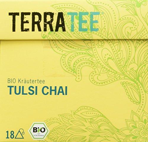 Terra Tee Bio Kräutertee Tulsi Chai, 4er Pack (4 x 36 g)