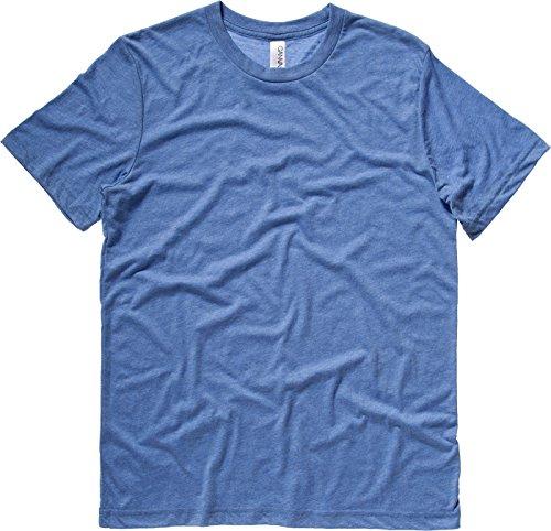 Bella + Canvas Tri Blend Herren Casual Top Short Sleeve Crew Neck stylisches T-Shirt - Orange Triblend