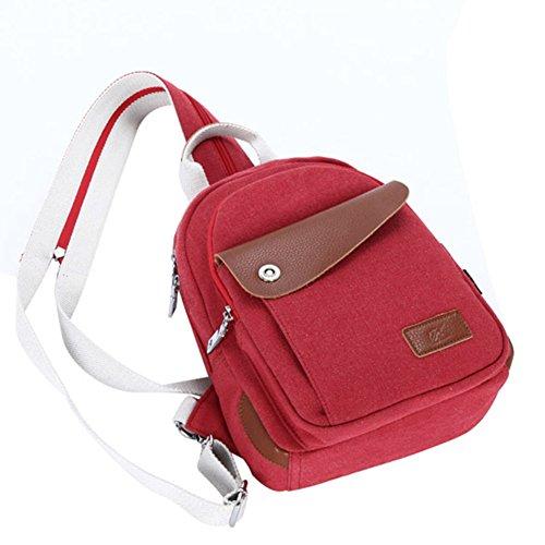 Borsa tempo libero/Zaino piccolo/Donne borsa da viaggio in tela/Pack di petto/Borsa a tracolla diagonale singolo multifunzione-B A