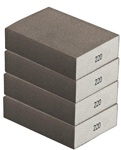 Schleifschwamm 4er Set FEIN I Körnung 220, DIY, Handschleifer I für verschiedene Materialien geeignet I hochwertiger Handschleifklotz, Schleifklotz, Schleifblock