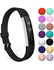 Yousave Accessories Fitbit Alta Strap and Alta HR Bands, Replacement Silicone Sport Watch Wristband for the Fitbit Alta and Alta HR - Available in 14 Colours