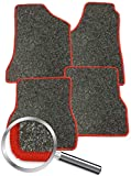 Fussmatten grau-meliert Rand rot passend für Mitsubishi Colt CZ3 / CZT 2005-2012 4-teiliges Set