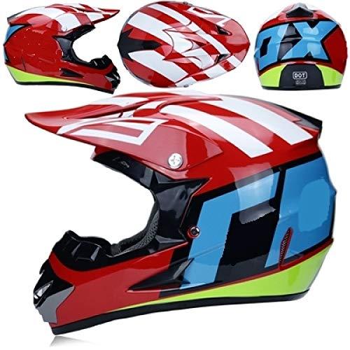 Professioneller Moped ATV-Helm Offroad-Helm Offroad-Motorrad-Offroad-Helm Mountainbike-Rennhelm Cross 18 XXL -