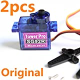 Generic 2pcs TowerPro SG92R Digital Servo Nylon Carbon Fiber Gears Upgraded SG90 For RC Model Airplane Parts Helicopter 450