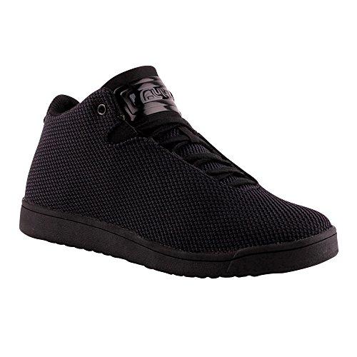 Herren Damen High Top Sneaker Basketball Sport Freizeit Unisex Schuhe Schwarz-M EU 43