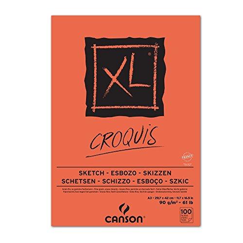 Canson 200787303 XL Skizzen Blocks, 90 g/qm, 100 Blatt pro Block