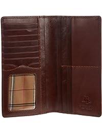 """Visconti Bifold Leder Herren Flache Geldbörse Scheckbuch """"Monza"""" Checkbook Italian Leather Wallet (MZ6):"""
