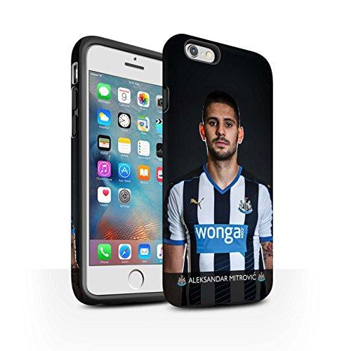 Offiziell Newcastle United FC Hülle / Matte Harten Stoßfest Case für Apple iPhone 6+/Plus 5.5 / Pack 25pcs Muster / NUFC Fussballspieler 15/16 Kollektion Mitrovic