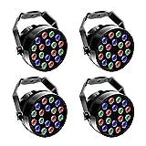 LED Par Fase Luce Effetto Faretto Illuminazione DMX512 RGBW Illuminazione Palcoscenico per Luci da Palcoscenico Discoteca DJ Party Show Bar UKing (4 Pezzi)