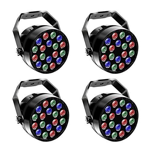 UKing - Foco led RGB para escenarios, efectos de luz, sonido automático,...