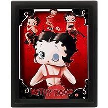 Betty Boop - Cartoon, 3D Poster Framed Póster 3D (enmarcado) (25 x 20cm)