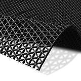 Hygienematte Z-Mat | viele Größen | stark rutschhemmend | für Nassbereiche und Arbeitsplätze | Schwarz - 120x200 cm