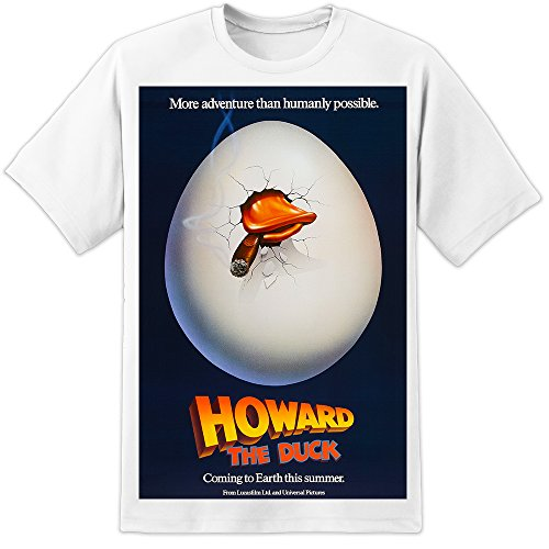 DPX-1 Howard The Duck Retro Movie Poster T Shirt (S-3XL) Lucasfilms 80's Classic