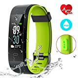 CHEREEKI Fitness Armband mit Pulsmesser, Fitness Tracker IP68 Wasserdicht für iPhone Android