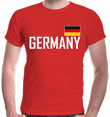 irt Germany | Deutschland Allemagne Alemania Europa Ländershirt Fanshirt Trikot Reise | XXL, Rot (Mädchen Fußball Halloween Kostüme)