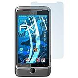 atFolix Displayschutzfolie für HTC Desire Z Schutzfolie - 3 x FX-Clear kristallklare Folie