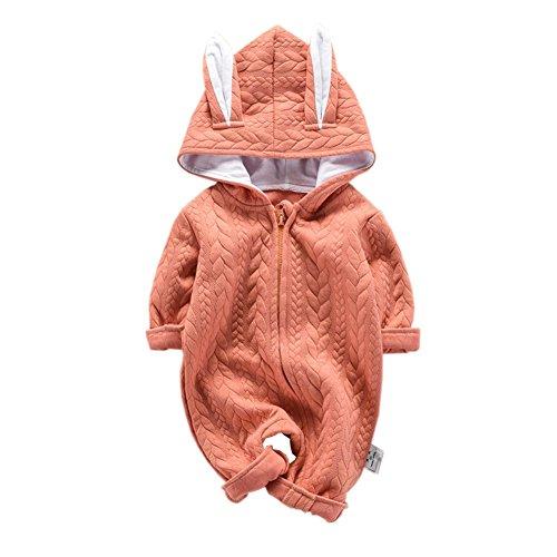 (fairy baby Fee-Baby-Jungen-Mädchen-Mantel-Säuglingsoverall-Kleinkind-Lange Hülsen-Bodysuit-Neugeborene Hoodies Size 100 (Orange))
