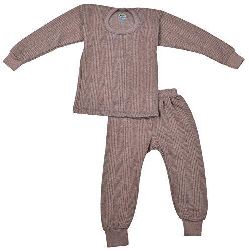 Kuchipoo Kids Thermal Pajama and Vest Brown (12-24 months)